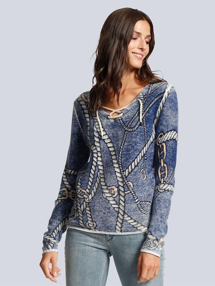 Pullover mit raffinierter Schnürung am Ausschnitt