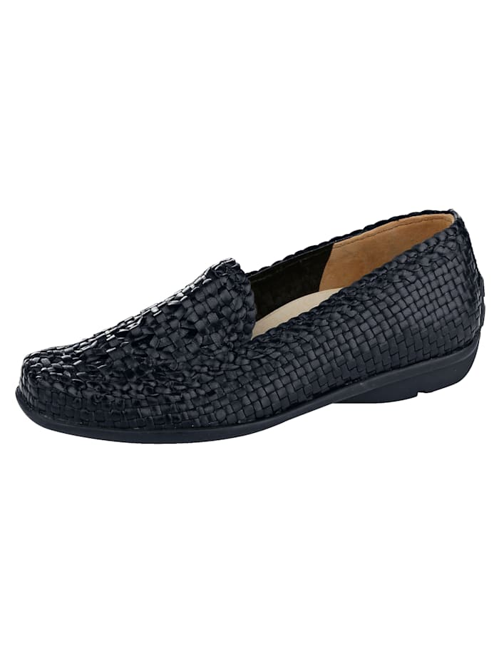 Loafer with braided leather