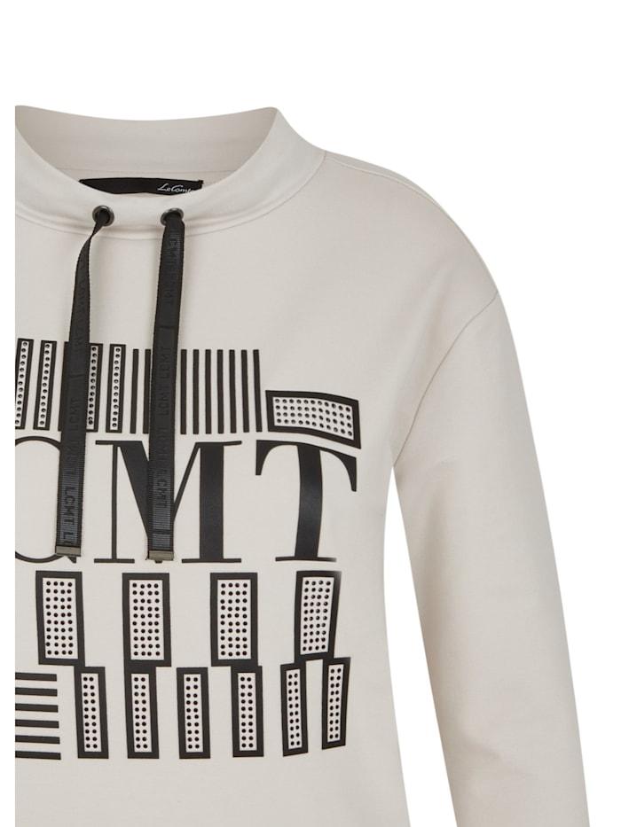 Shirt mit Glitzersteinen und Ärmeln in 3/4-Länge