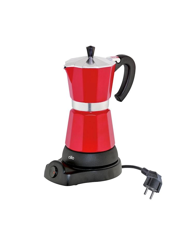 Cilio Elektrischer Espressokocher CLASSICO, Rot