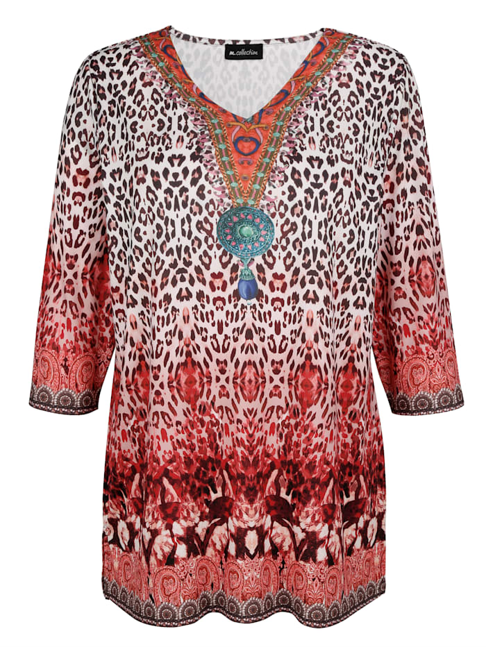 Longshirt met trendy print