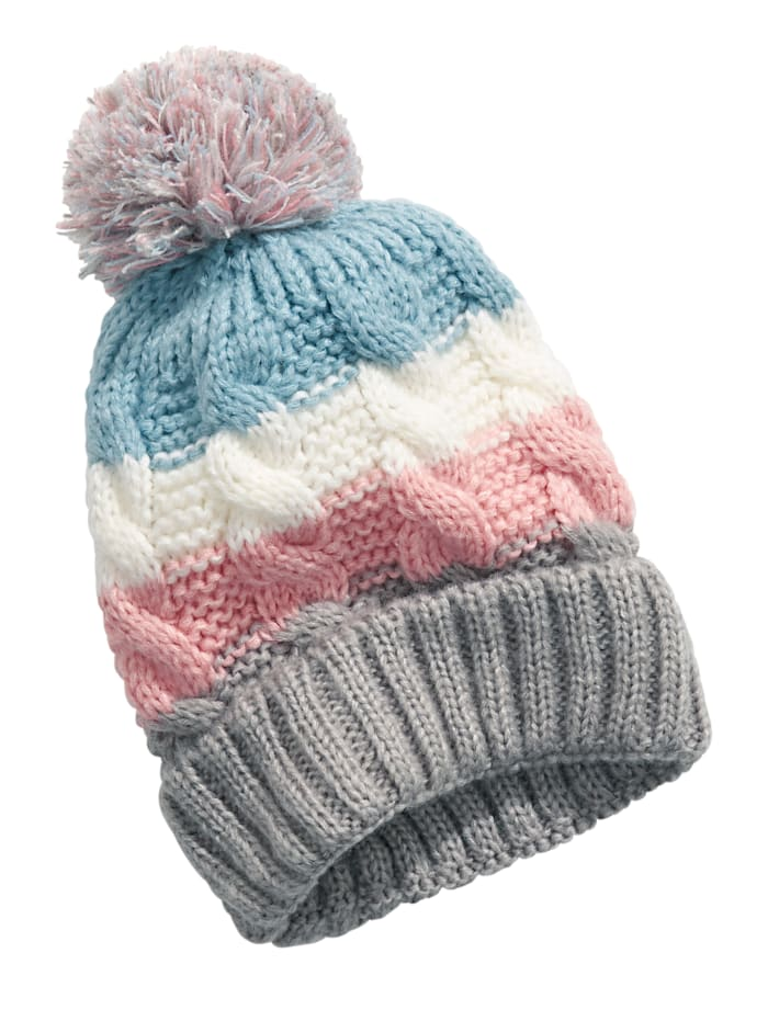 SIENNA Mütze mit Bommel, Multicolor