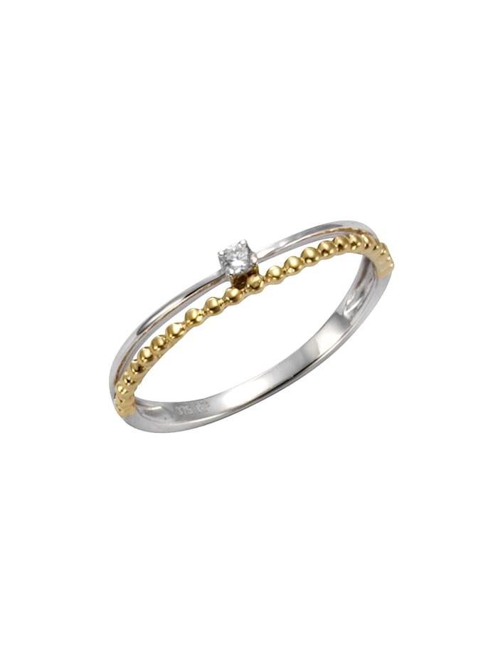 Celesta Ring 375/- Gold Zirkonia weiß Glänzend 0,05 375/- Gold, gelb
