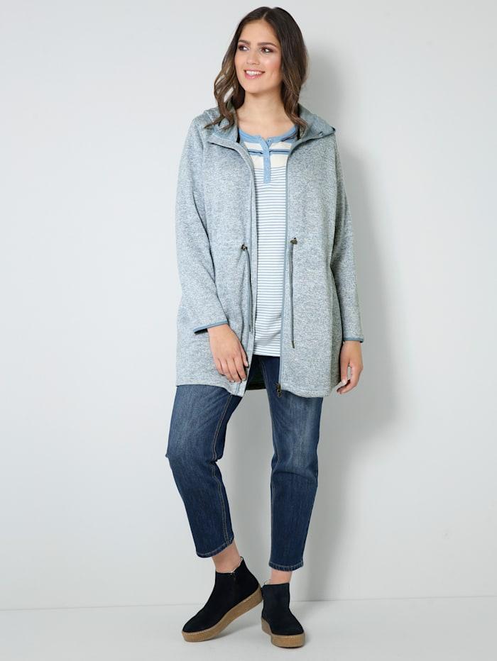 Strickfleece-Jacke mit weitenverstellbarem Taillenzug
