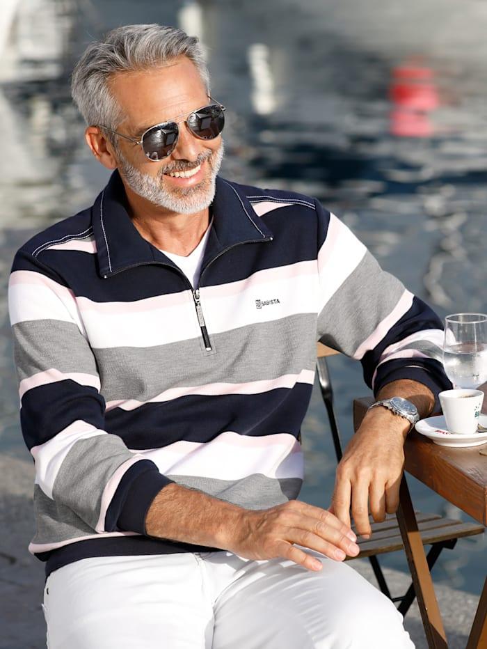 Sweatshirt mit garngefärbtem Streifendessin