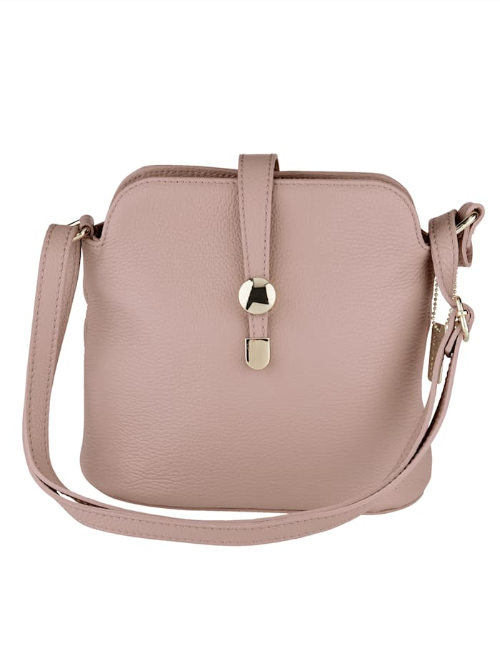 MONA Shoulder bag with elegant clasp, Rosé