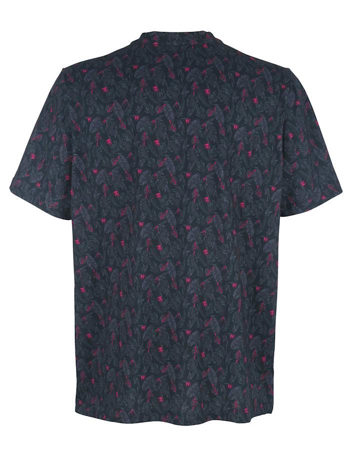 T-Shirt mit modischem Blumendruck rundum