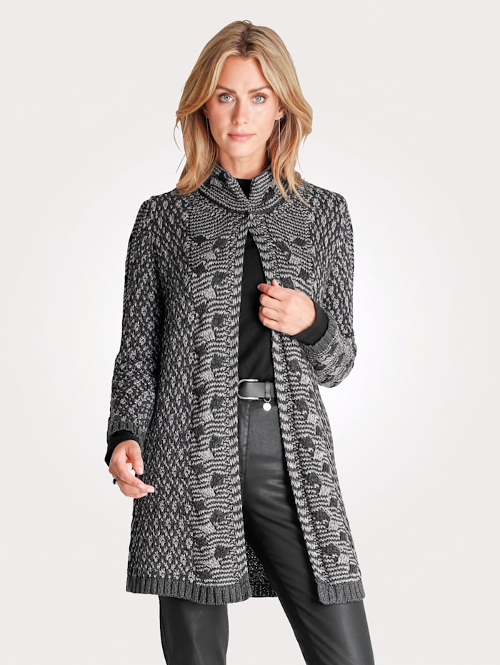 Longline cardigan in a textured knit