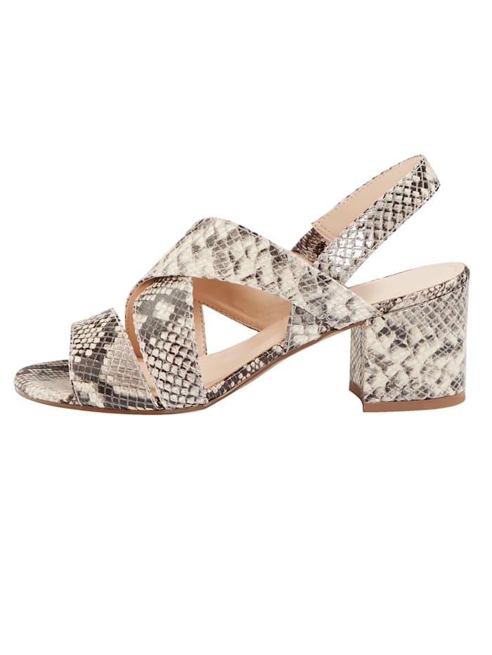 Sandale in eleganter Schlangen-Optik