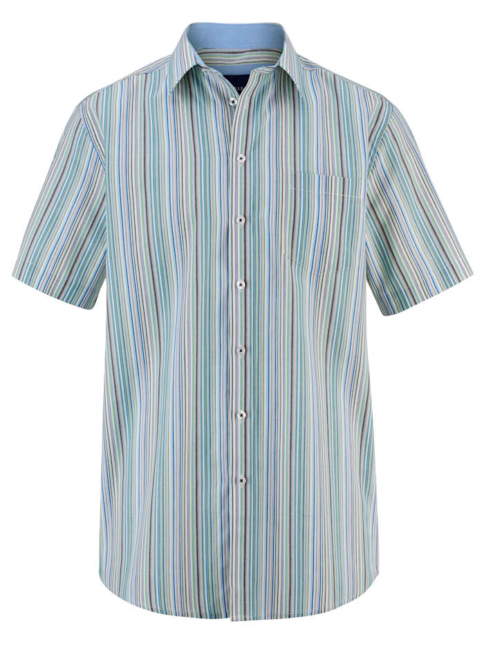 BABISTA Hemd mit garngefärbtem Streifendessin, Grün/Blau