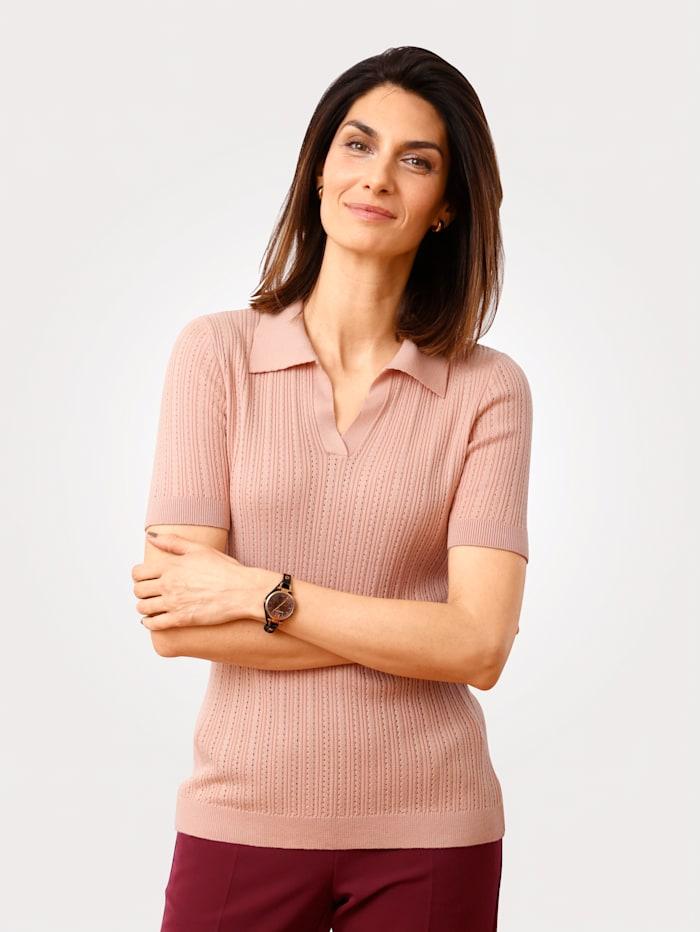 MONA Pullover in Ajourstrick, Rosé