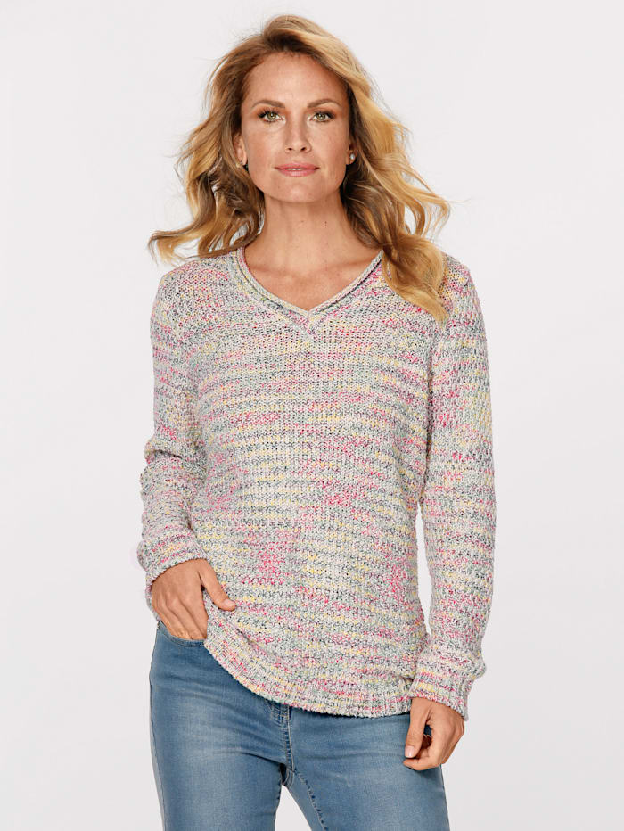 MONA Pullover in Reiskorn-Struktur, Multicolor