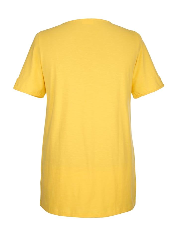 T-shirt long avec dentelle