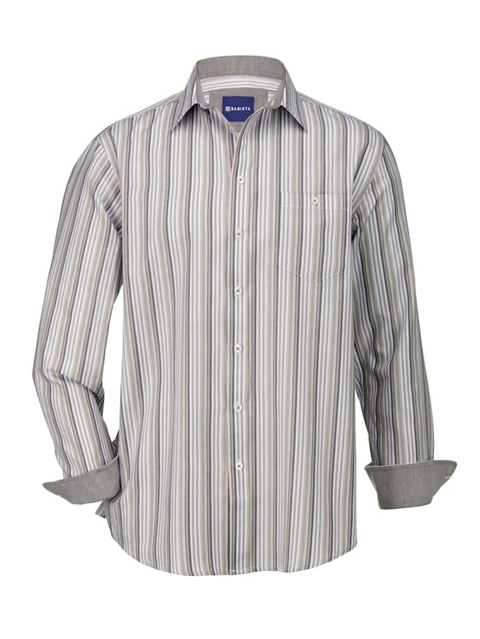 BABISTA Overhemd met 1 borstzak, Grijs/Beige