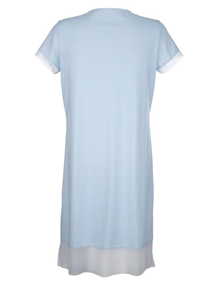 Nachthemd met elegante details van kant