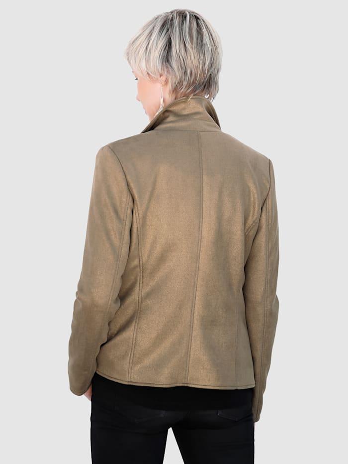 Lederimitat-Jacke gold beschichtet