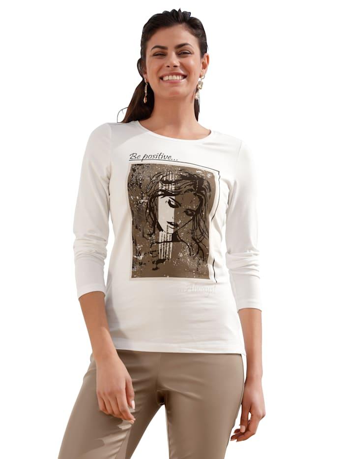 AMY VERMONT Shirt mit Motiv im Vorderteil, Off-white
