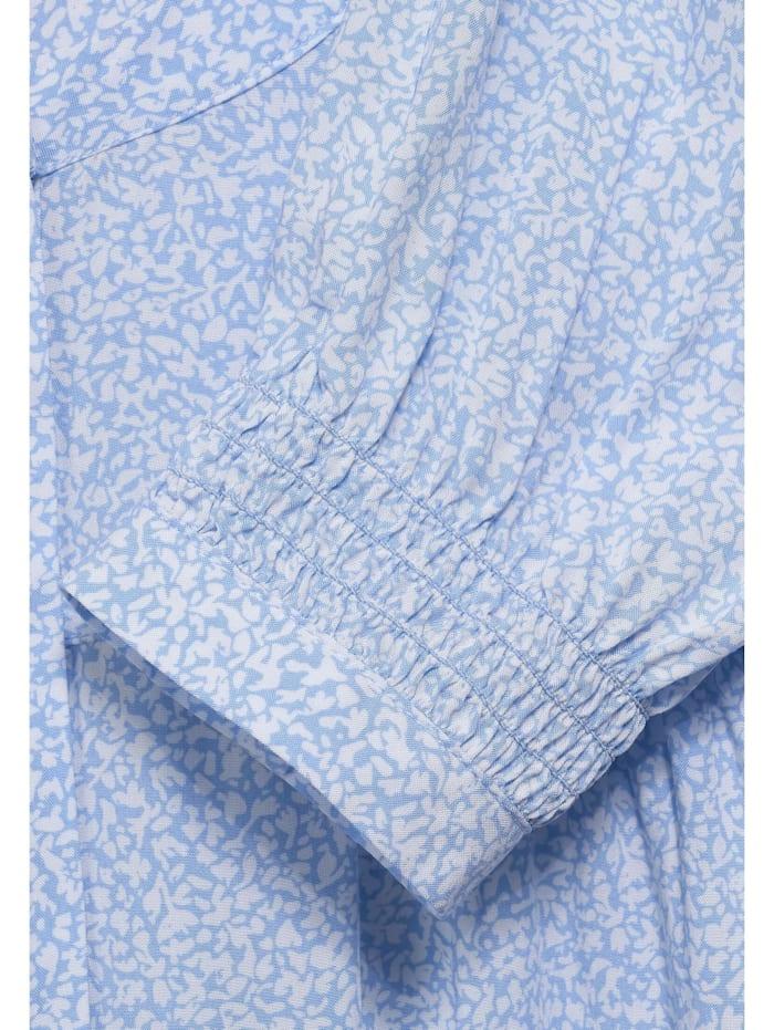Print-Bluse mit Smok-Detail