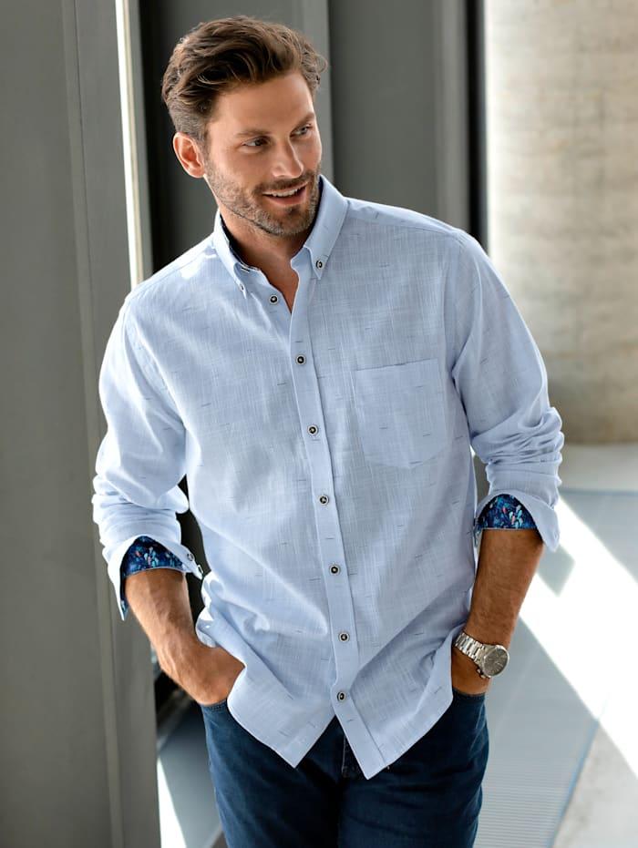 BABISTA Overhemd met effectgaren, Lichtblauw