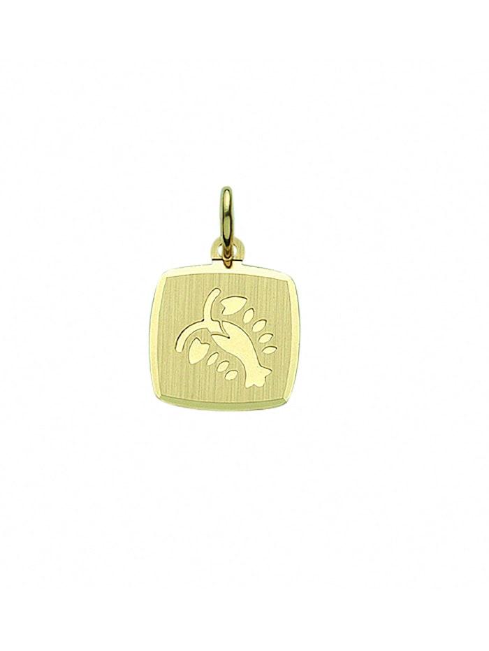 1001 Diamonds Damen & Herren Goldschmuck 333 Gold Sternzeichen Anhänger Krebs, gold