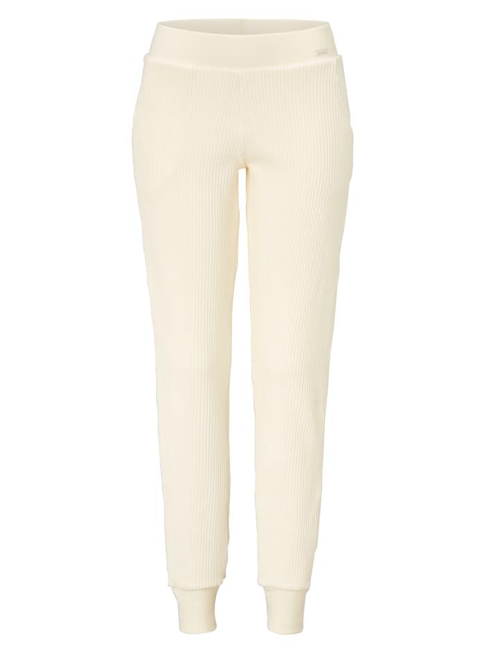 Skiny Kord-Loungehose, Creme-Weiß