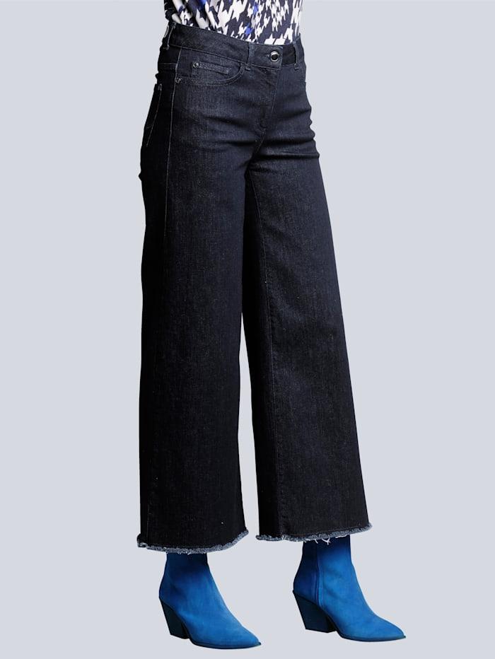 Alba Moda Jeans mit weiterem Beinverlauf, Dark blue