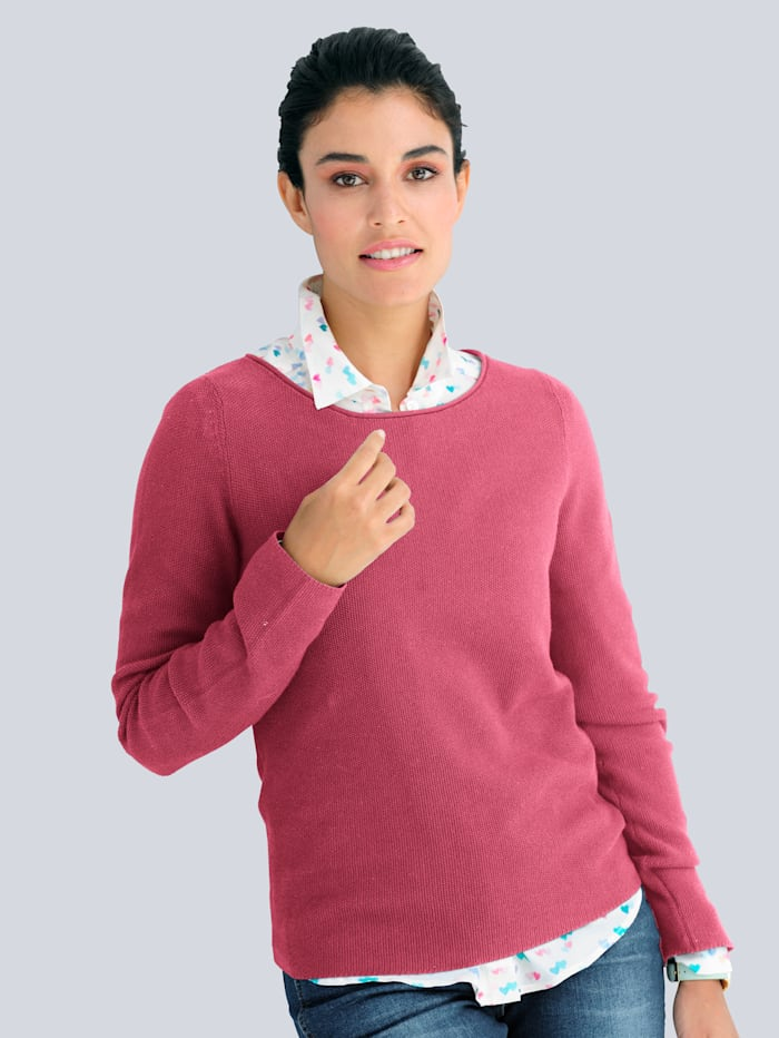 Alba Moda Pullover aus Pima Cotton, Pink