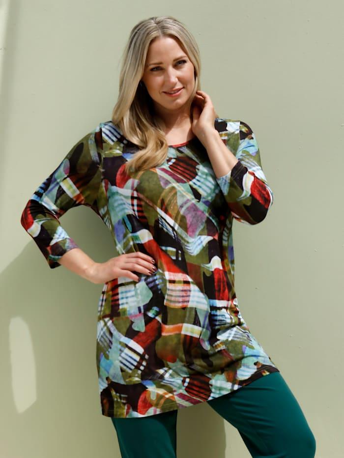 MIAMODA Longshirt van soepelvallend materiaal, Multicolor