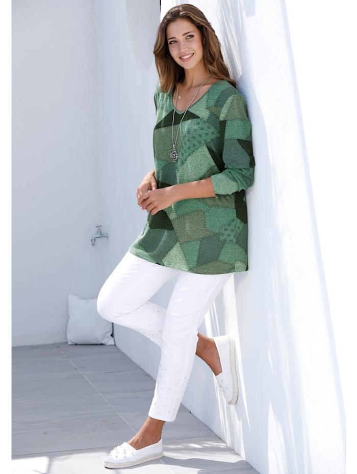 Pullover mit trendigem Patchdruck