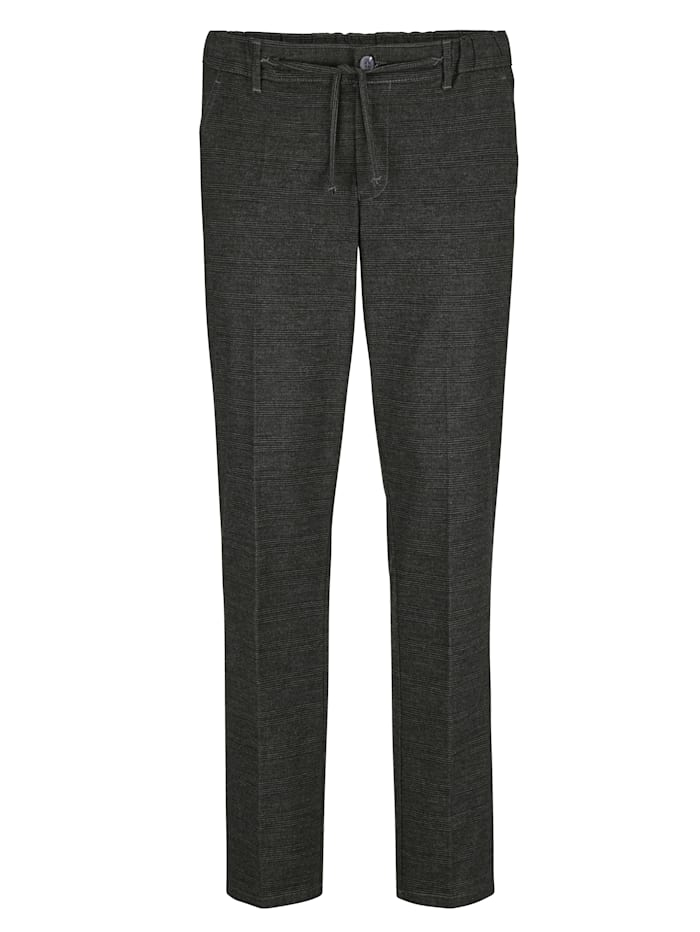 BABISTA Pantalon d'aspect laine dans une matière douce et confortable, Noir/Gris