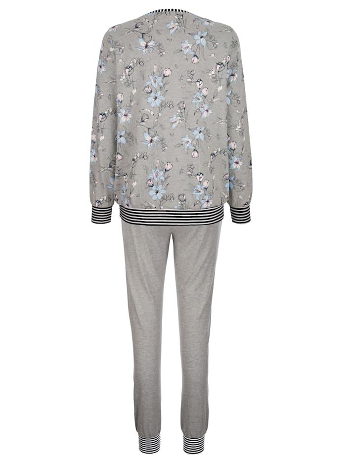 Schlafanzug mit trendigen Bündchenabschlüssen
