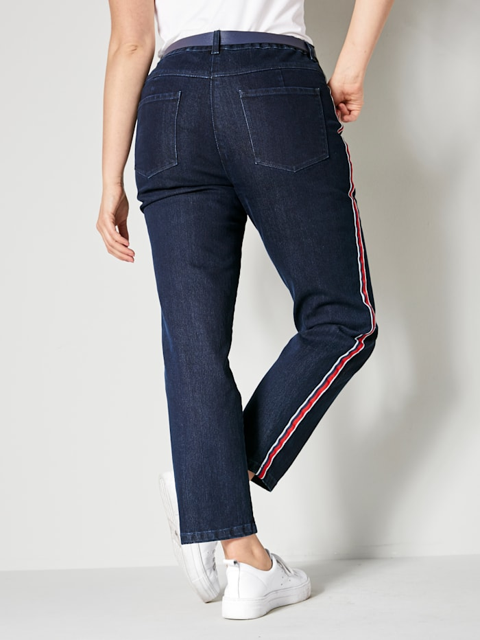 Jeans met band opzij