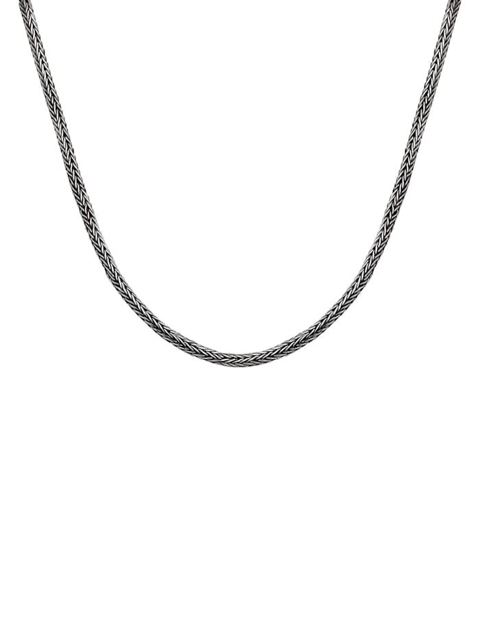 Halskette Herren Basic Schlangenkette Oxidiert 925 Silber