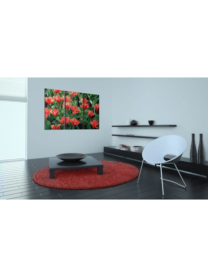 Wandbild Rote Tulpen in der Blüte