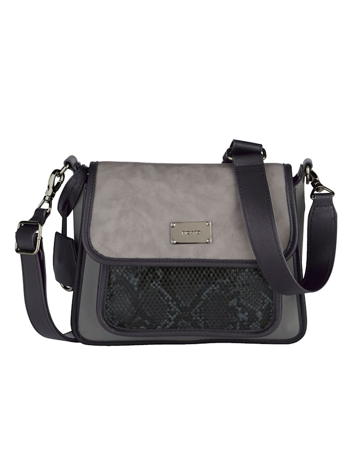 Picard Shoulder bag with snake print detailing, Grey/Multi
