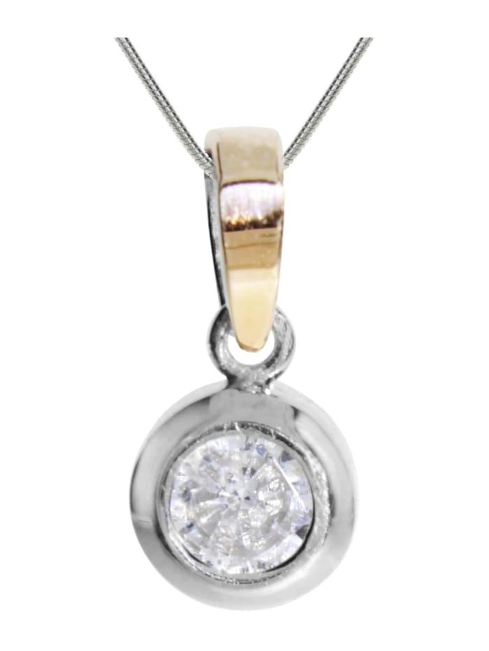 OSTSEE-SCHMUCK Kette mit Anhänger - Sunny Exklusiv - Silber 925/000 & Gold 585/000 -, silber