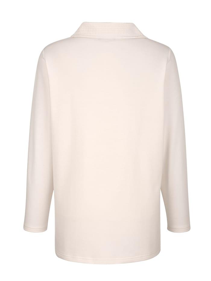 Sweatshirt met decoratieve polokraag