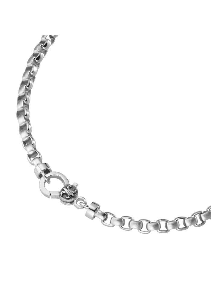 Giorgio Martello Kette eckige Glieder, gebürstet / glanz, Silber 925, Silber