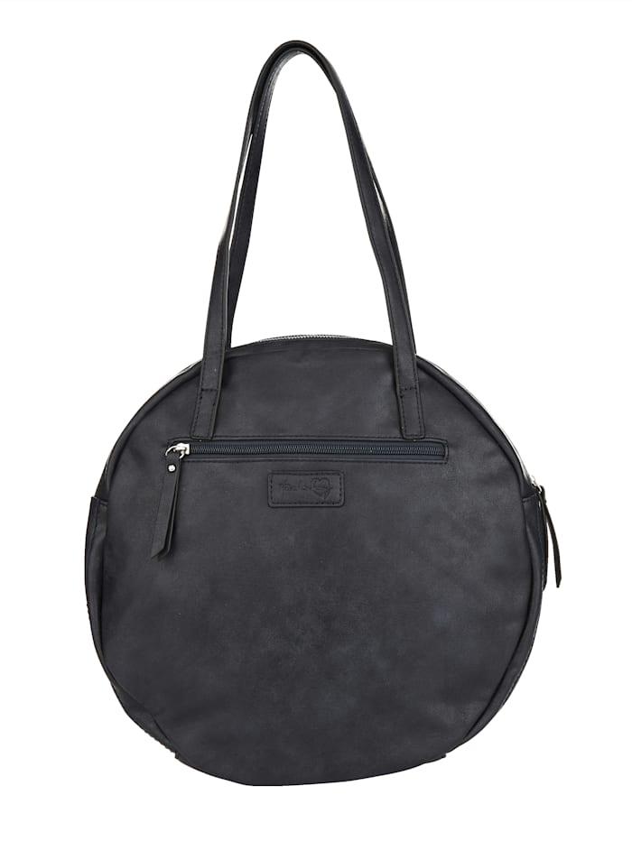 Handtasche in runder Formgebung