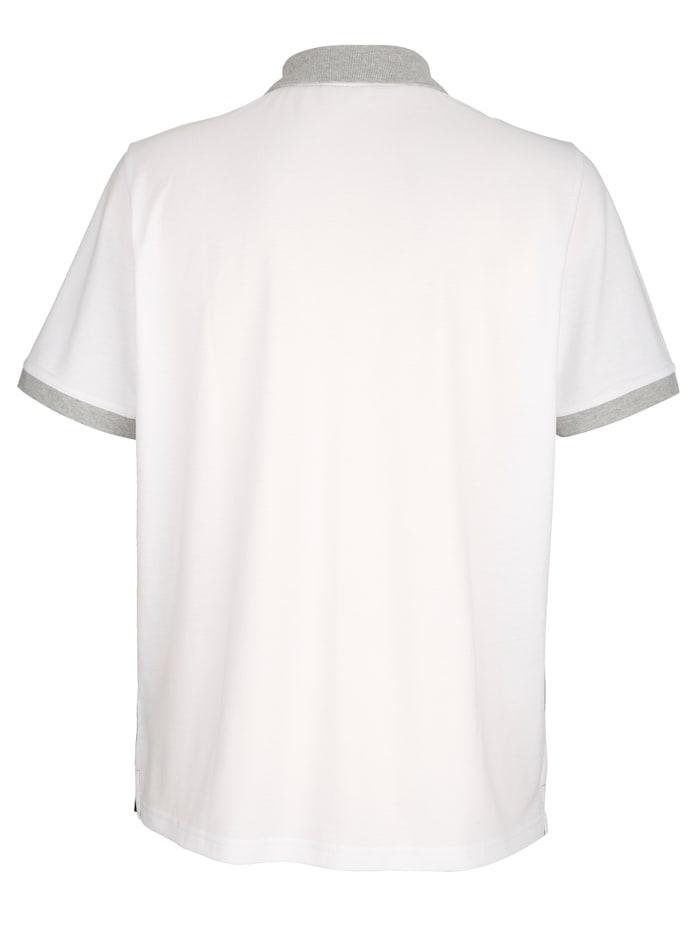 Poloshirt met contrasten voor