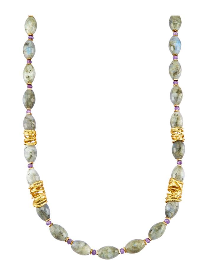 Halsband med vackar stenar, Flerfärgad