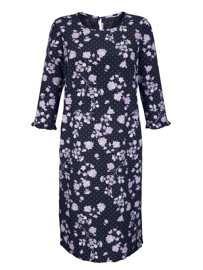 Laura Kent Kleid mit Rüschen am Arm, Marineblau