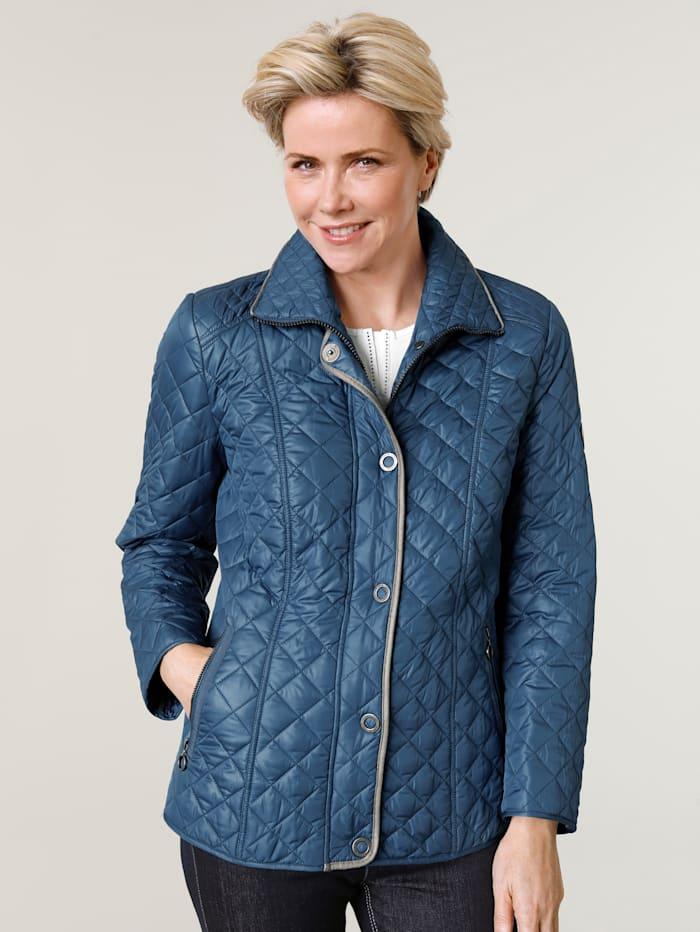 Barbara Lebek Gewatteerde jas met stiksels, Blauw