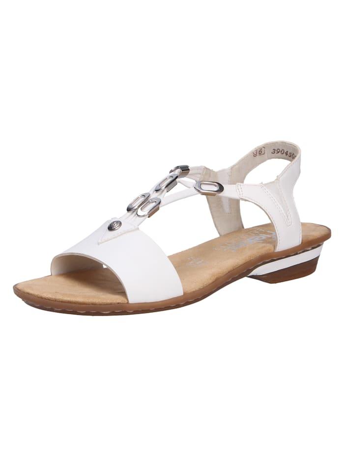 Rieker Sandalen/Sandaletten, weiß
