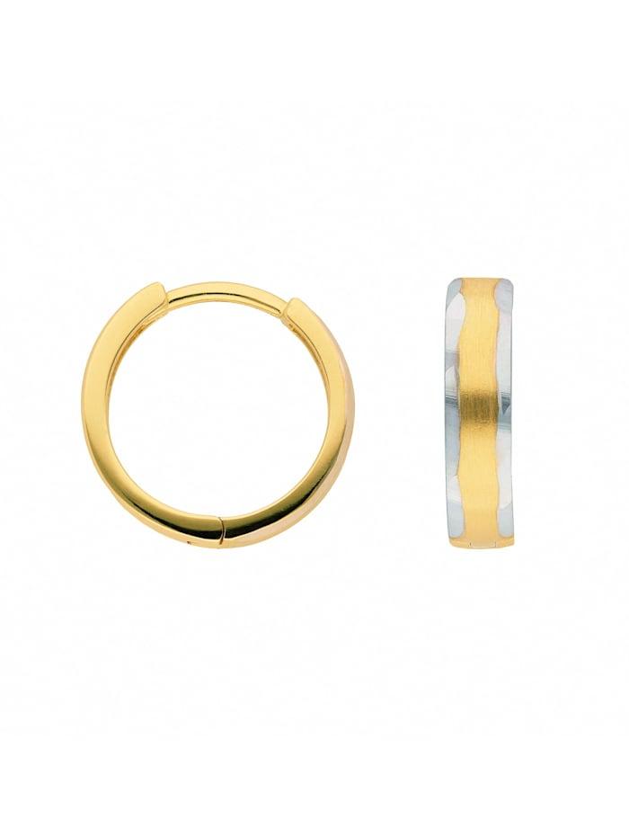 1001 Diamonds Damen Goldschmuck 333 Gold Ohrringe / Creolen, gold