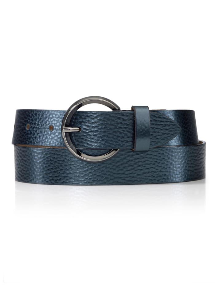 BRAX Gürtel im Metallic-Look, Marineblau