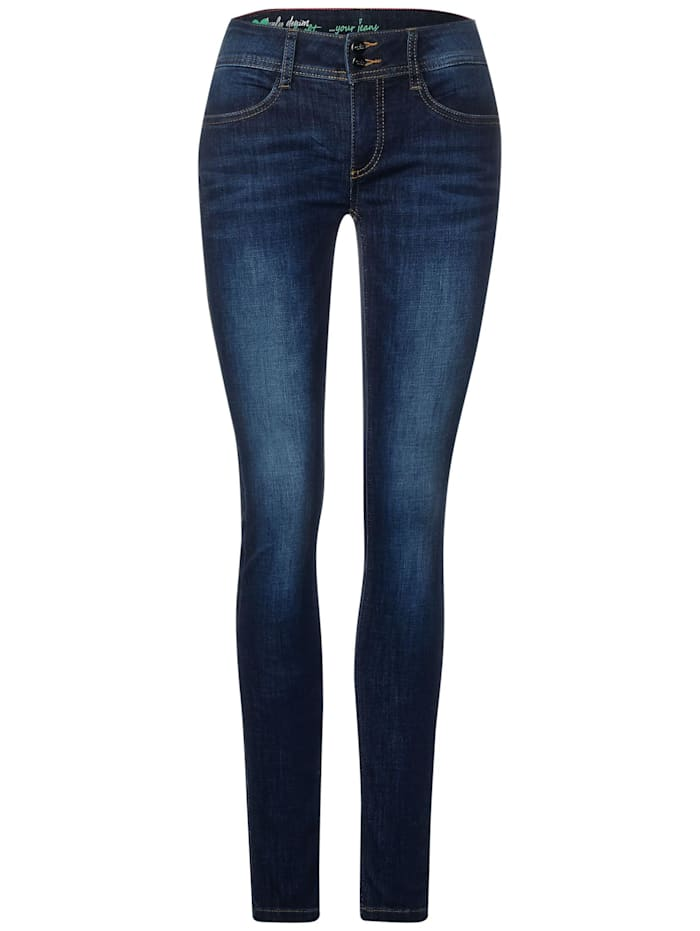 Street One Repreve®-Denim im Slim Fit, indigo stone wash