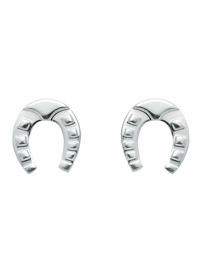 1001 Diamonds 1001 Diamonds Damen Silberschmuck 925 Silber Ohrringe / Ohrstecker Hufeisen, silber