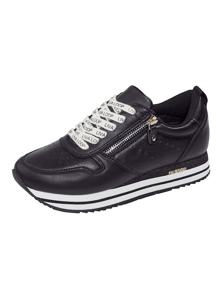 Liva Loop Sneakers à plateau avec semelle de marche en EVA très légère, Noir