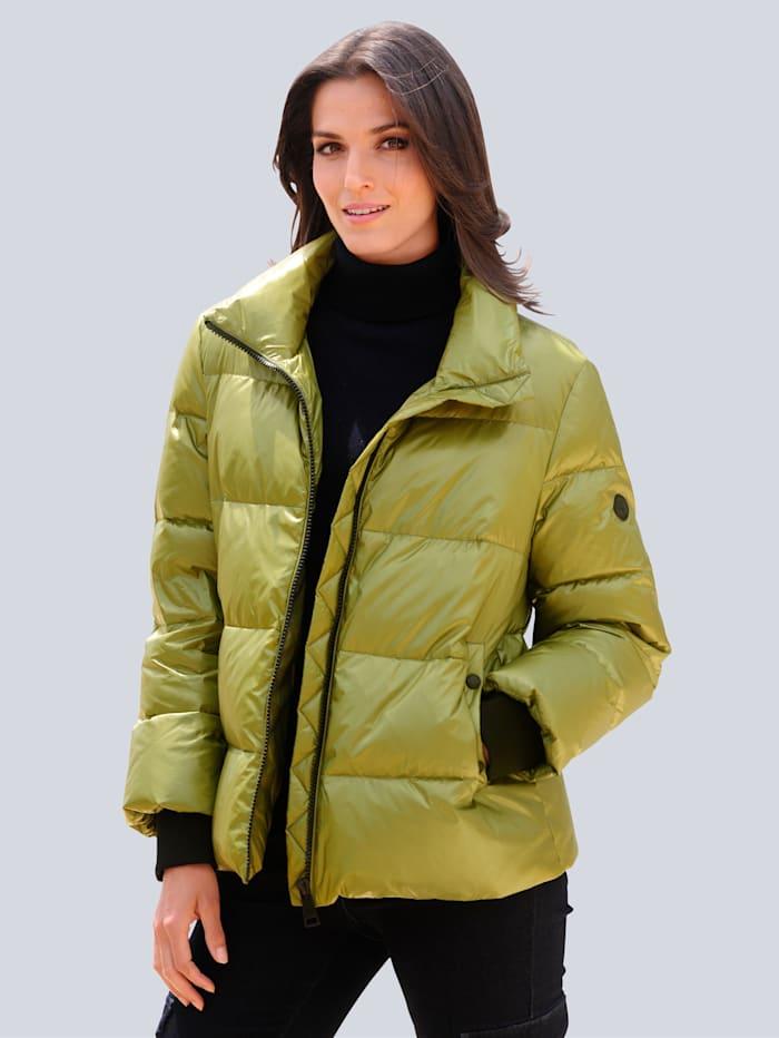 Alba Moda Jacke in schöner Steppoptik, Grün
